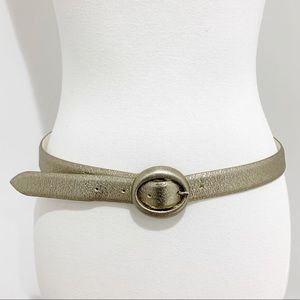 Orciani made in Italy silver genuine leather belt